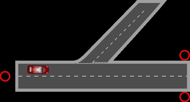 Straight road horizontal clipart.