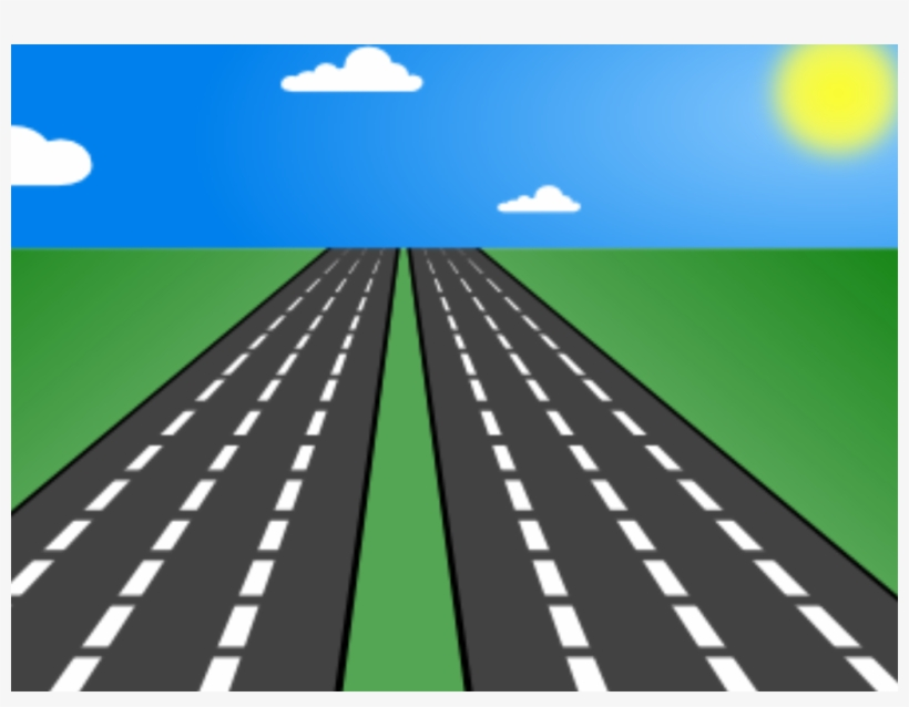 Clipart Road Straight Road.