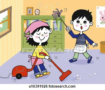 Clean my room clipart.