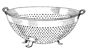 Free Strainer Clipart, 1 page of Public Domain Clip Art.