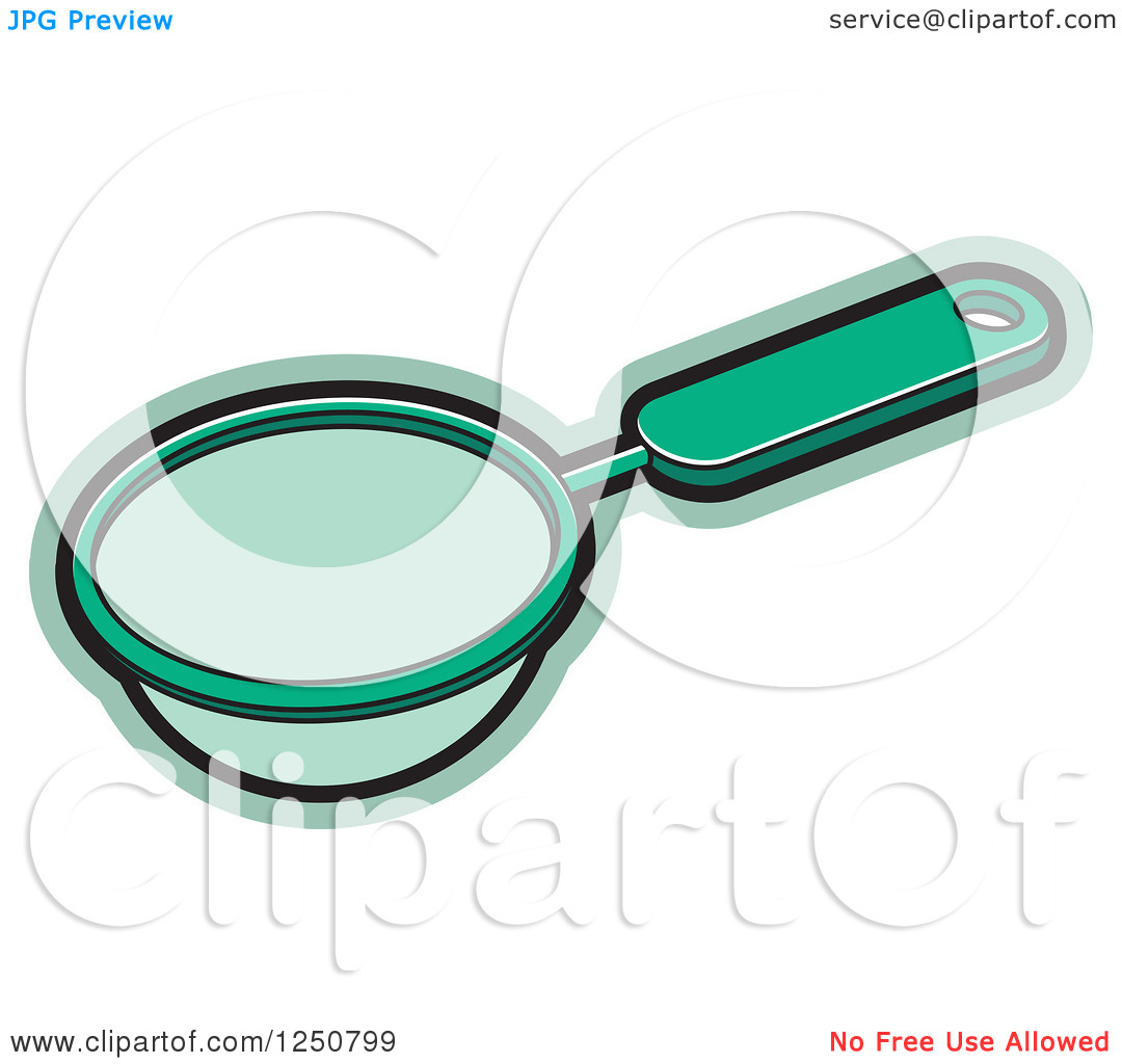 Clipart of a Green Tea Strainer.