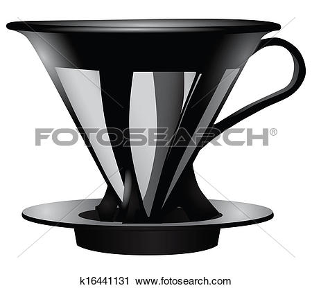 Clipart of Funnel for straining coffee k16441131.