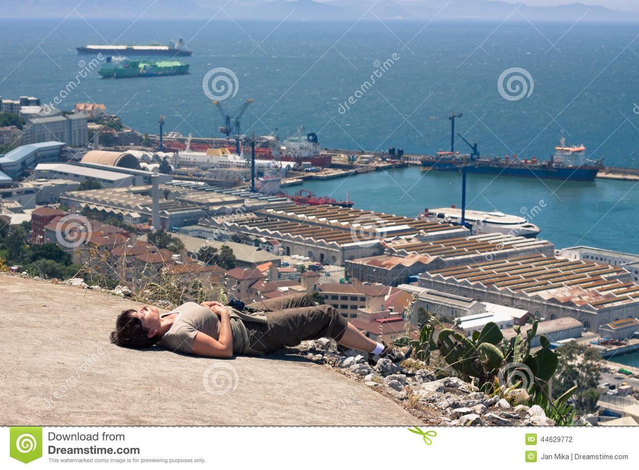 Strait Of Gibraltar Stock Photo.