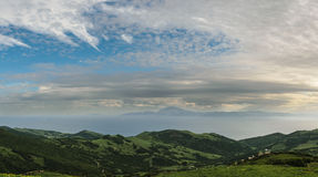 A View Of Morocco Across The Strait Of Gibraltar Stock Photo.