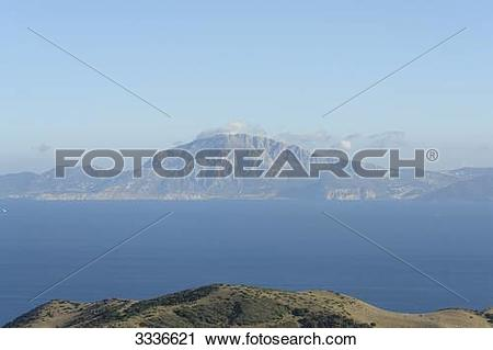 Stock Photography of View of the Strait of Gibraltar, El Cuarton.