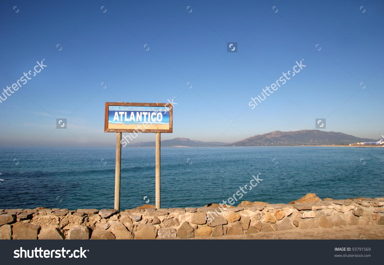 Strait Gibraltar Tarifa Spain Southern Point Stock Photo 93791569.