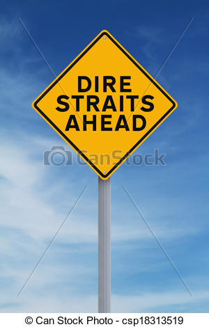 Clipart of Dire Straits Ahead.