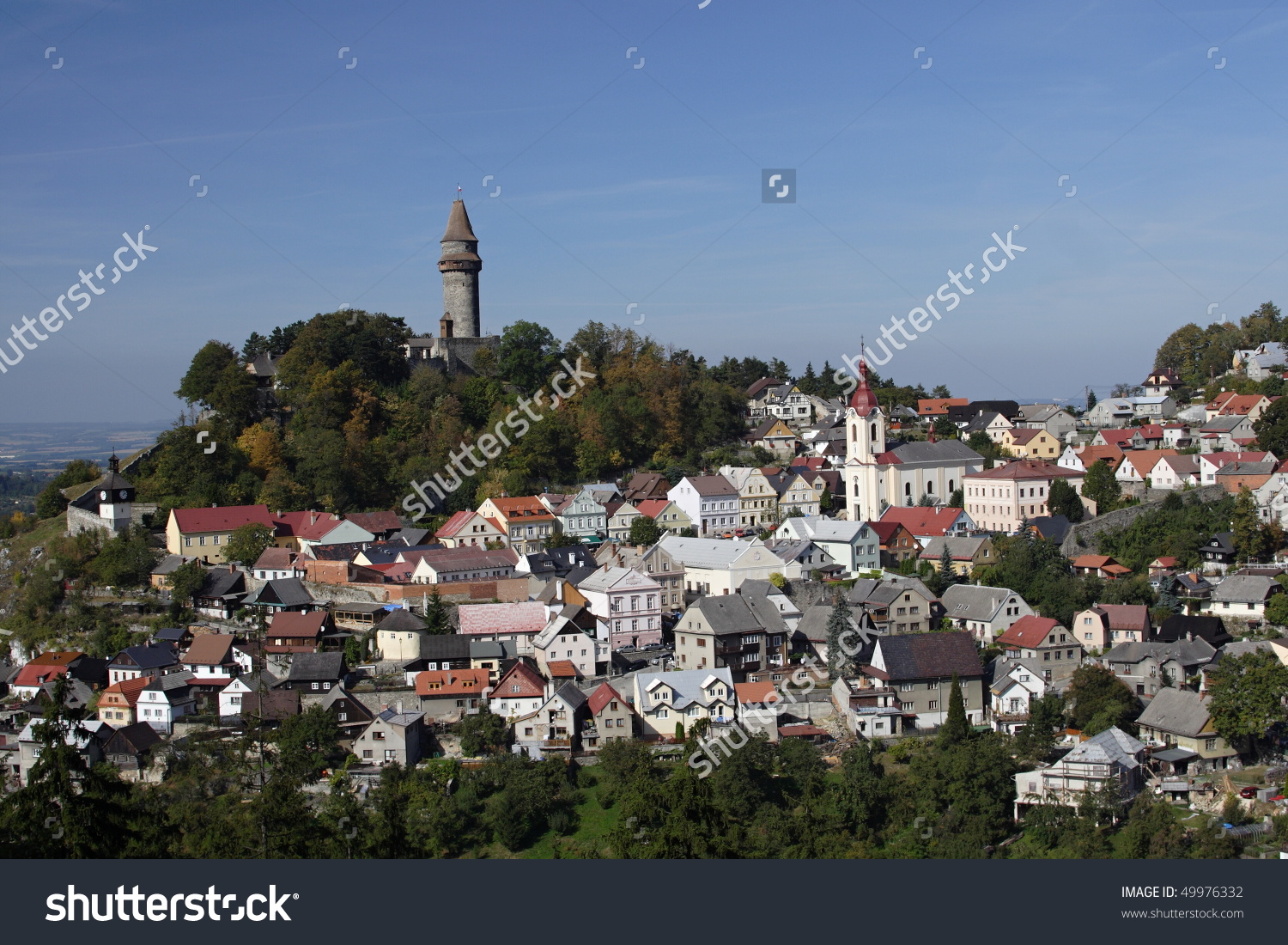 Stramberk, Historic Town With A Castle On A Hill Top ,Czech.
