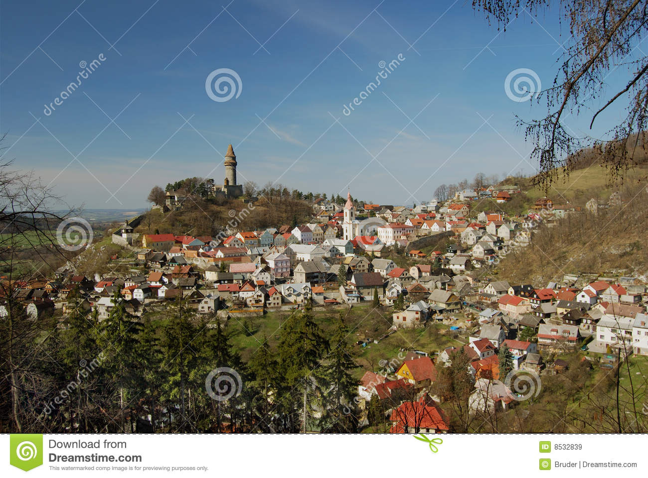 Czech Republic, Stramberk Royalty Free Stock Images.