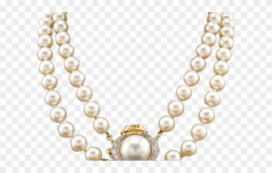 Necklace Clipart Pearl Strand.