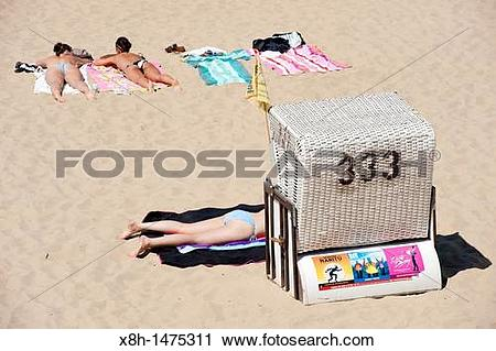 Stock Photography of beach at Strandbad in Wannsee in Berlin.