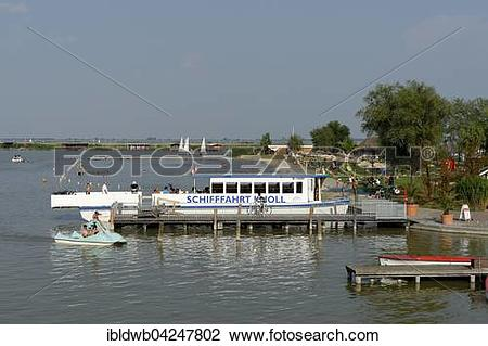 Stock Photo of Schifffahrt Knoll, shipping, ferry port and.