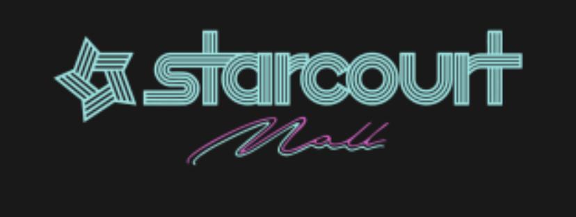 "Stranger Things ""Starcourt Mall"" fonts."