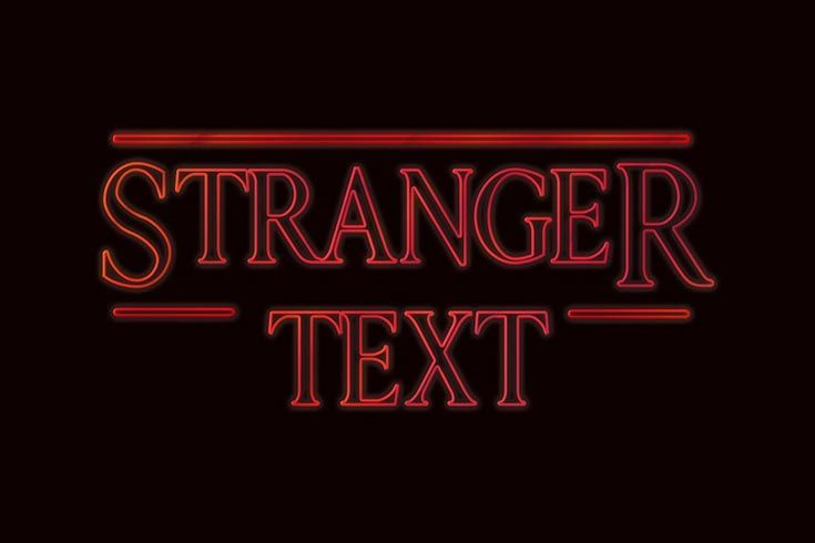Free Stranger Things PSD Text Style.
