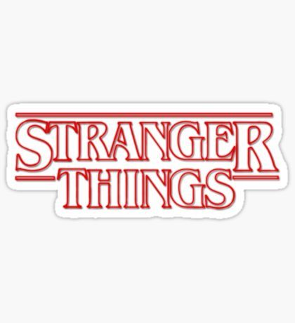 Stranger Things Stickers.