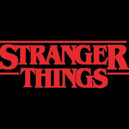 Stranger things Logo Icon of Flat style.