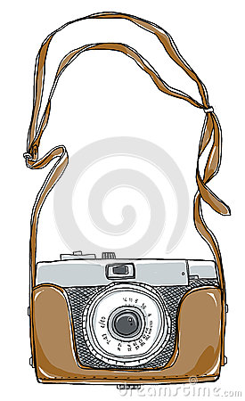 Old Camera Strap Stock Illustrations.