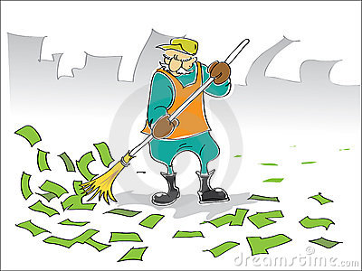 Street Sweeper Mathura Stock Illustrations.