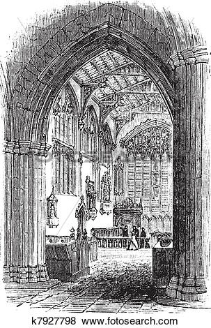 Clip Art of The tomb of William Shakespeare in Church of the Holy.