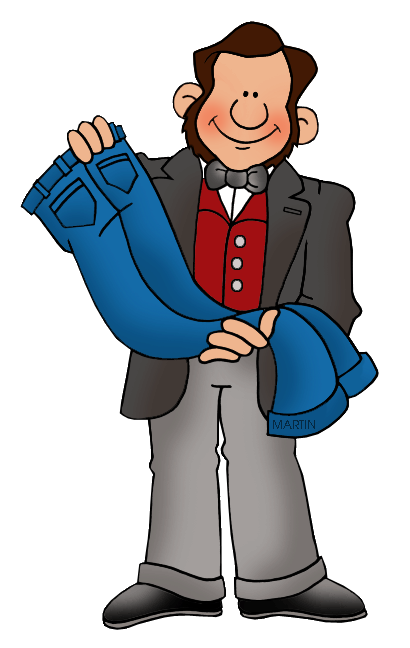 Free Inventors and Inventions Clip Art by Phillip Martin, Levi Strauss.