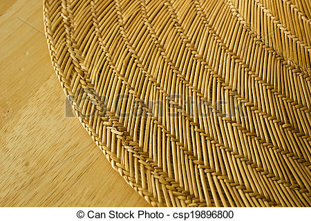 Stock Photography of Straw bedding for the table. Household.