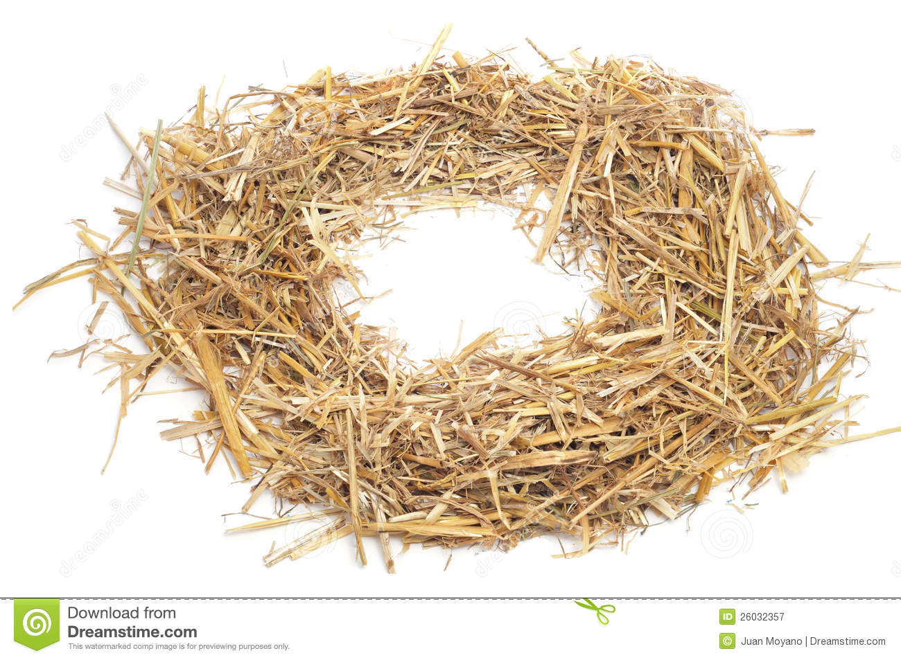 Round Straw Frame Royalty Free Stock Photography.