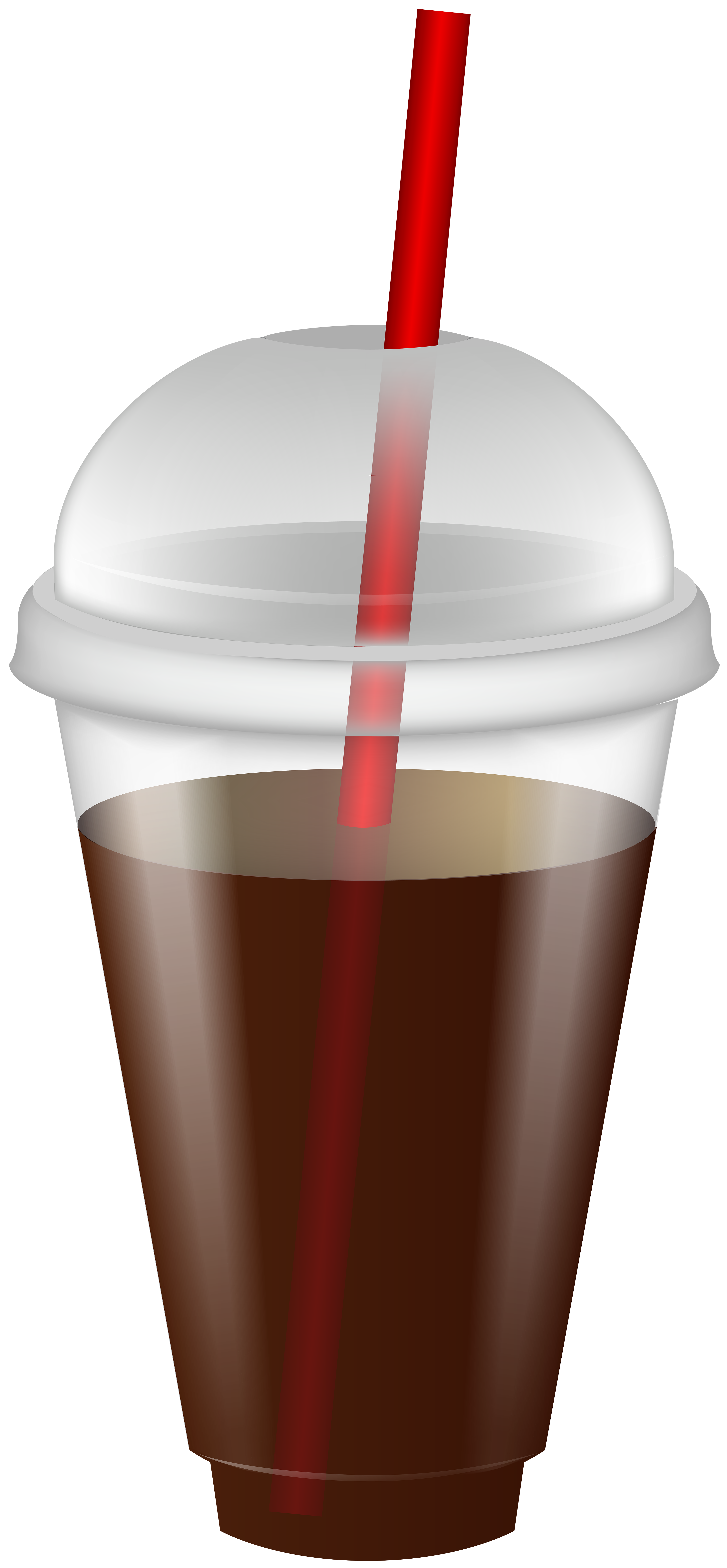 Drink in Plastic Cup with Straw PNG Clip Art Image.