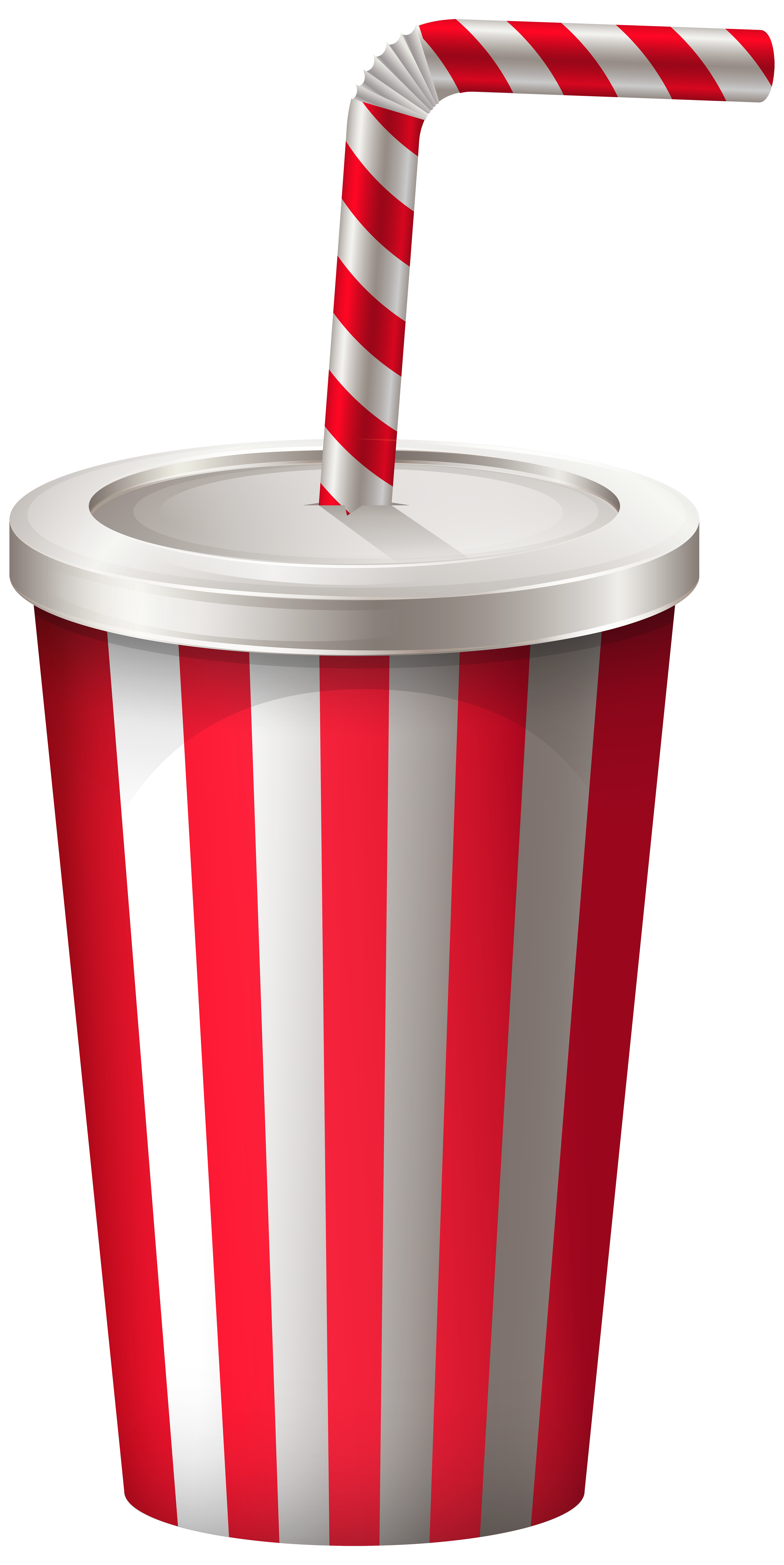Drink Cup with Straw PNG Transparent Clip Art Image.
