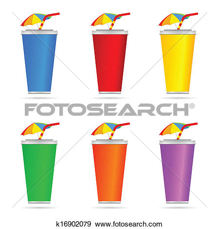 Clip Art of glass of juice with a straw color art vector k16902079.
