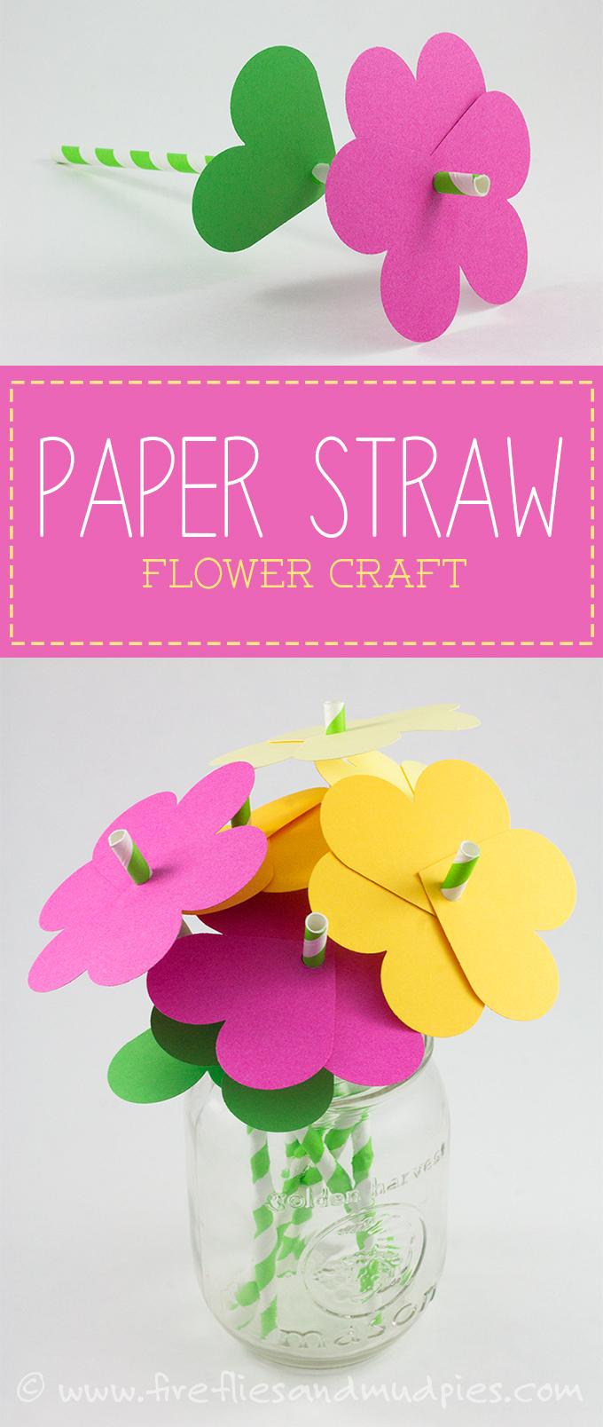Paper Straw Flowers.