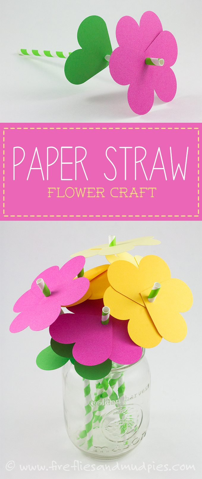 Paper Straw Flowers.