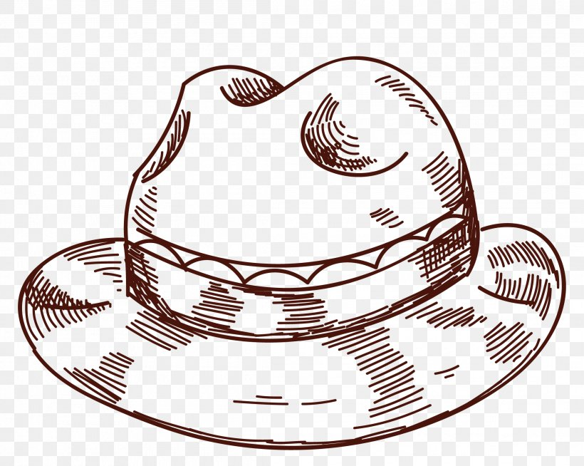 Straw Hat Clip Art, PNG, 2225x1776px, Hat, Black And White.