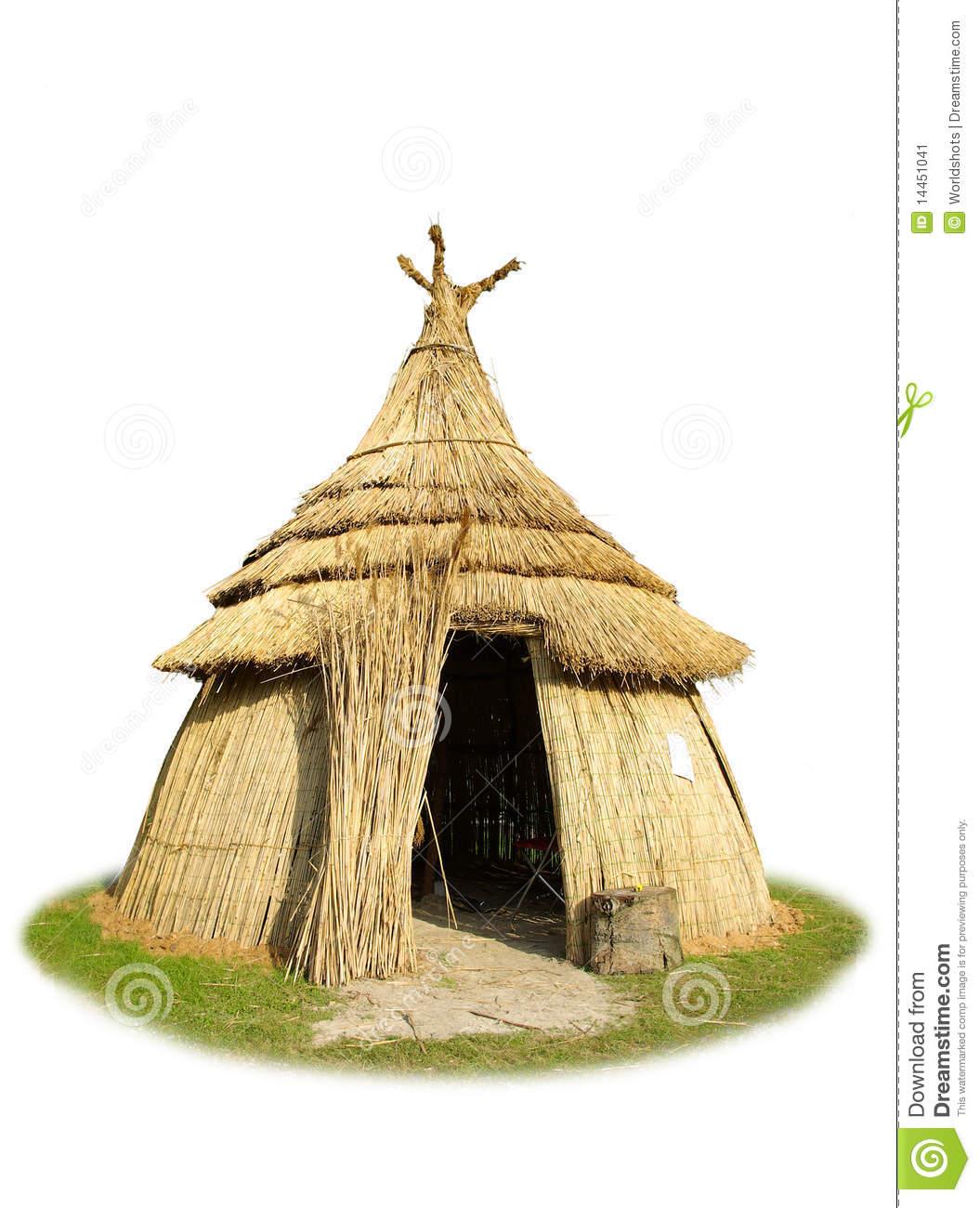 African Hut Clipart.