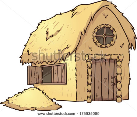 Straw House Stock Images, Royalty.