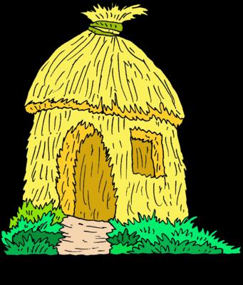 Image: Straw Hut.