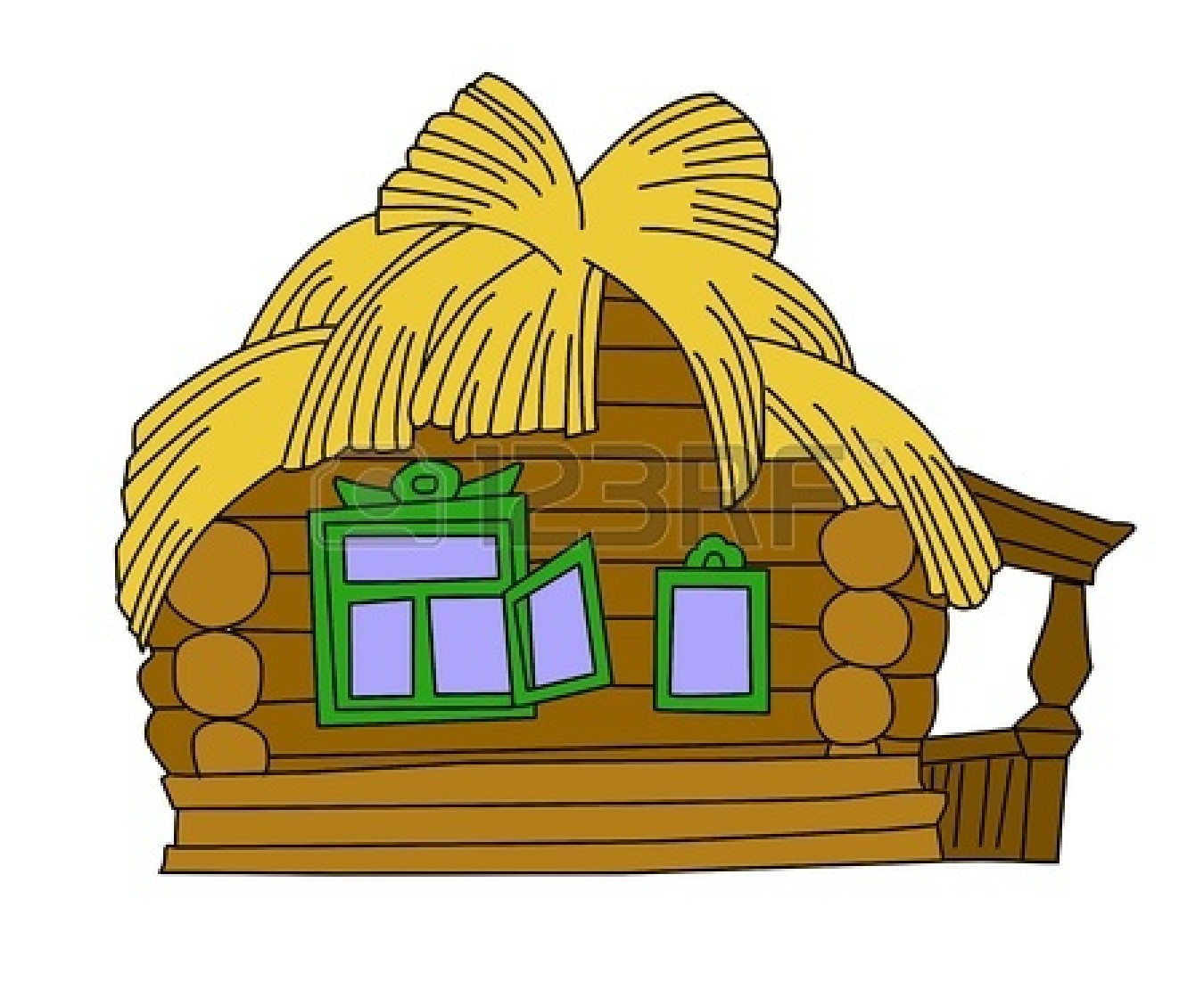 Straw House Clipart.
