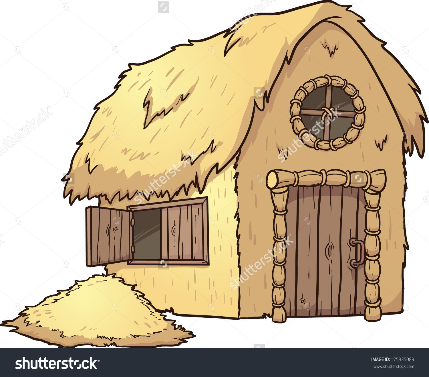 Clipart straw house.