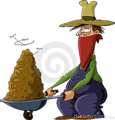 Muck Or Manure In A Wheelbarrow. Royalty Free Stock Photography.