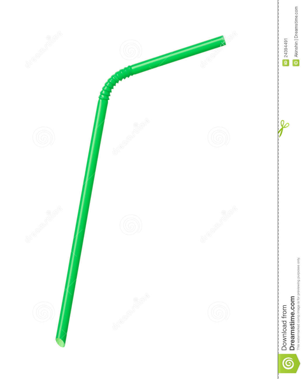 Bendy Straw Clipart.