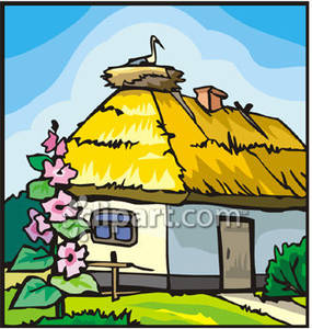 Straw Roof Clipart Clipground