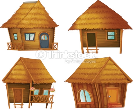 Hut Series Vector Art.