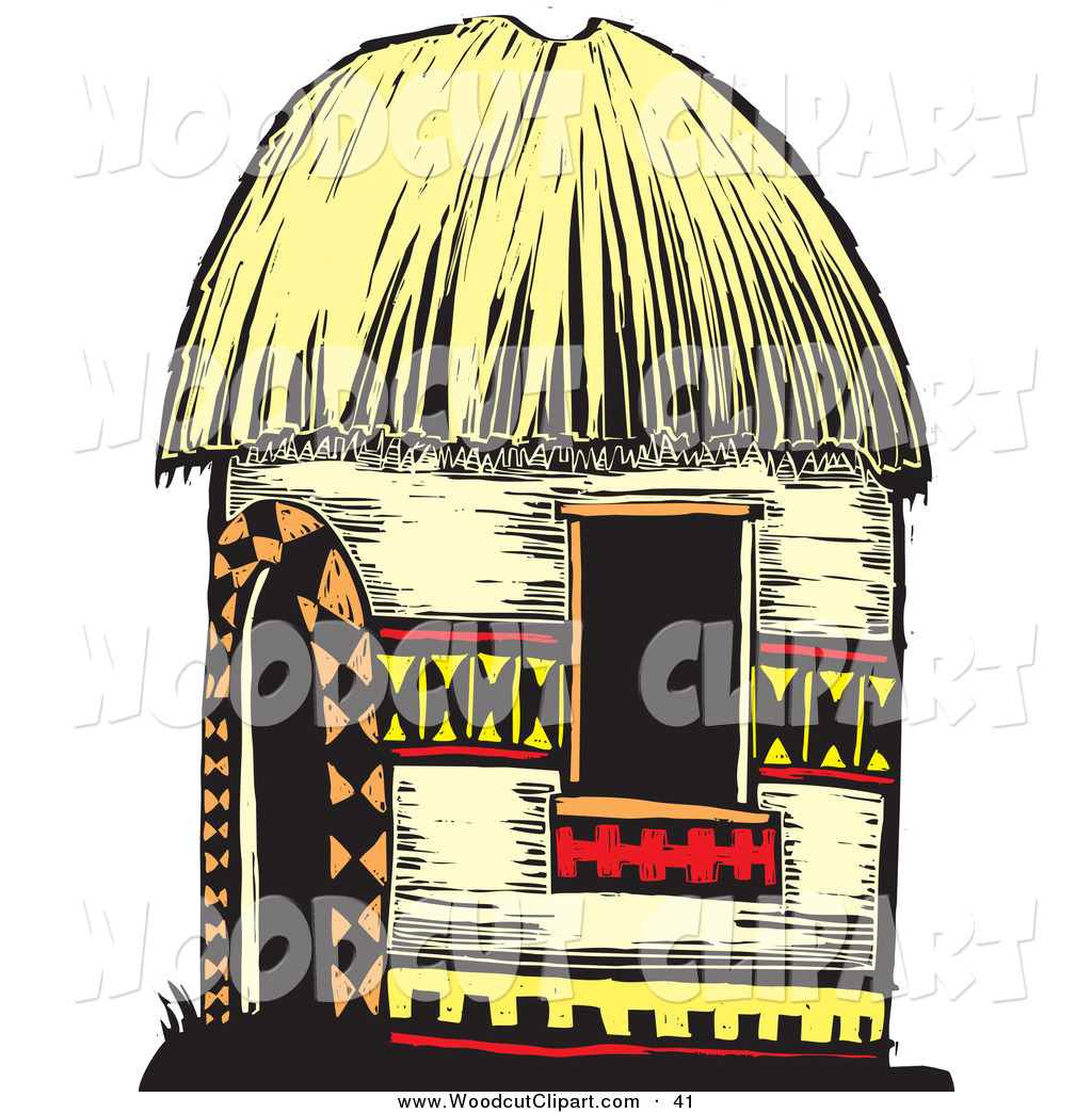Straw Hut Roof Clipart.