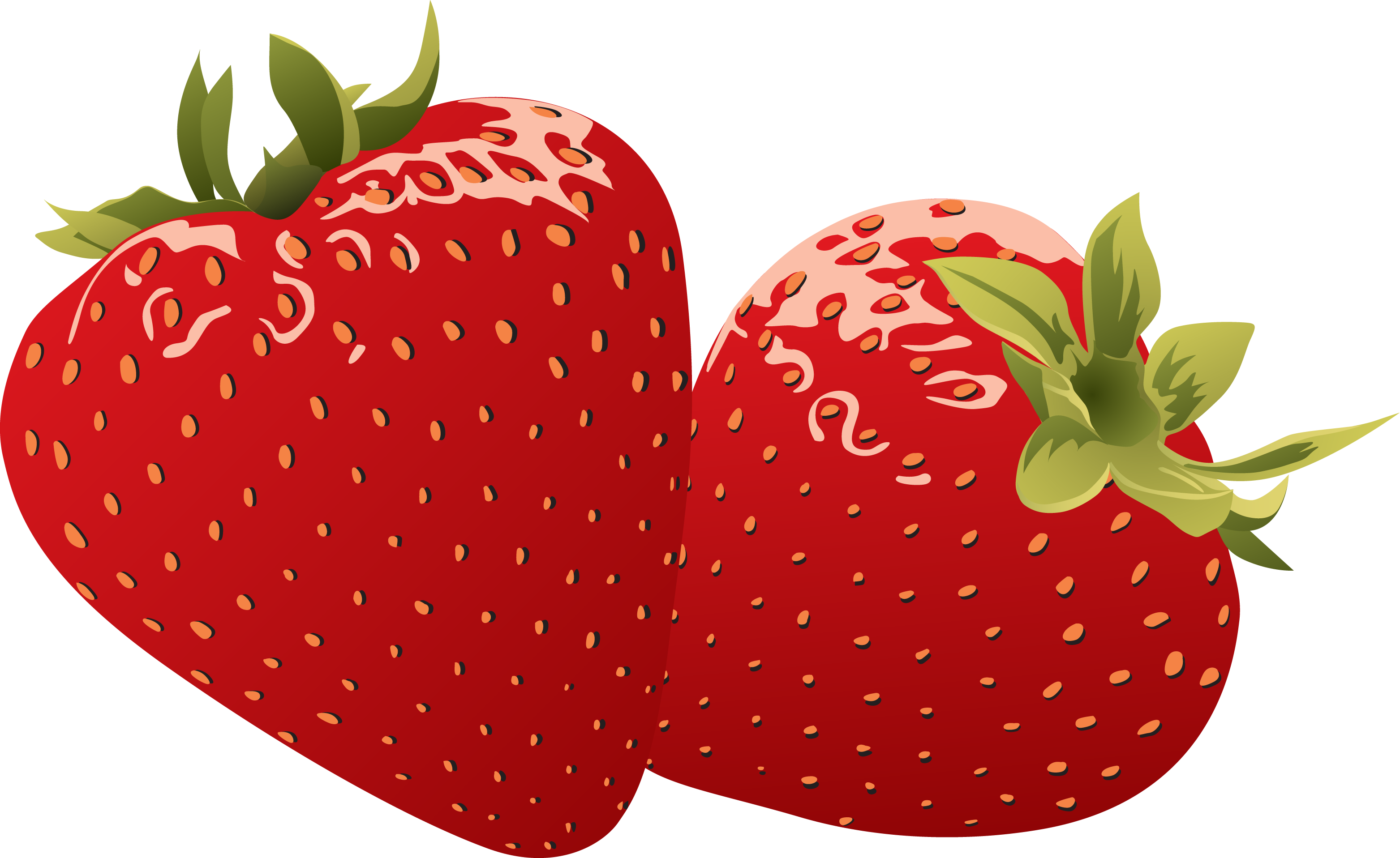 Strawberry clipart 3.