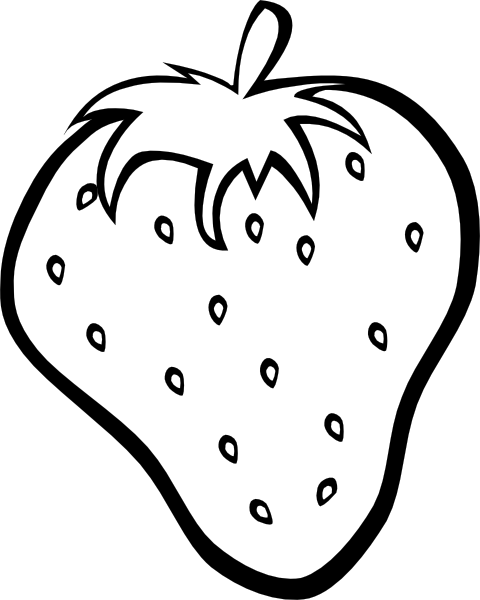 Clip Art Eating Strawberry Clipart.