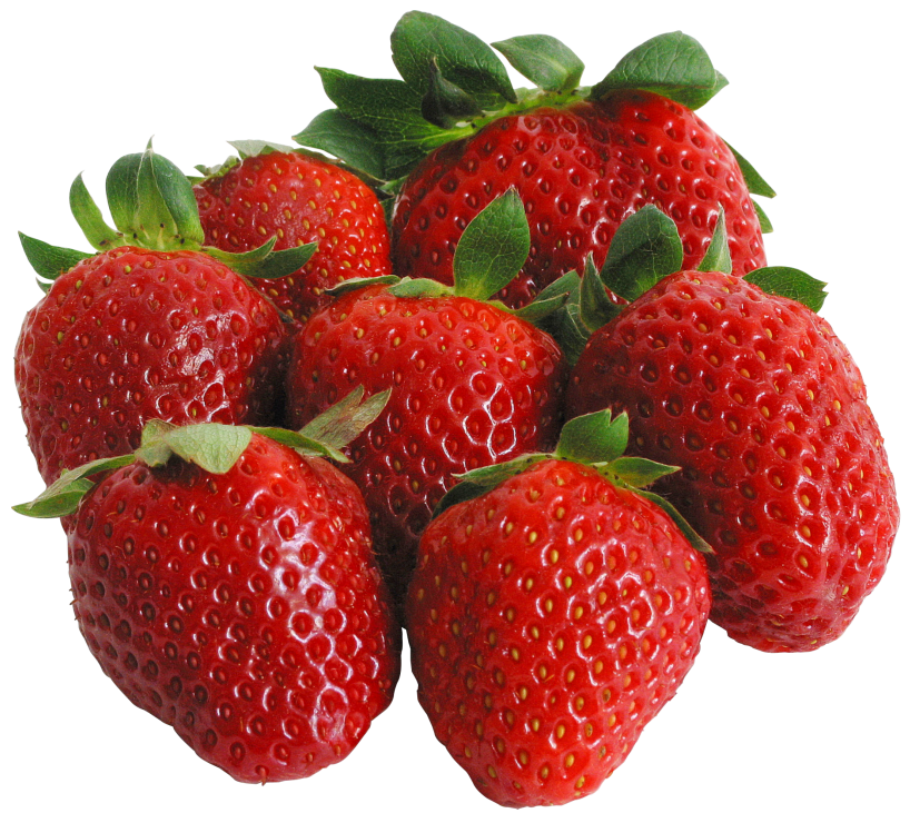 Large PNG Strawberries Clipart.