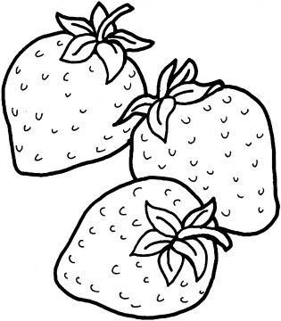 Clipart Black And White Strawberry.