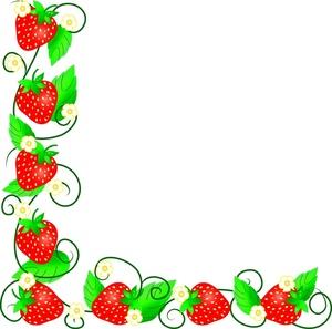 Strawberry Border Clipart.