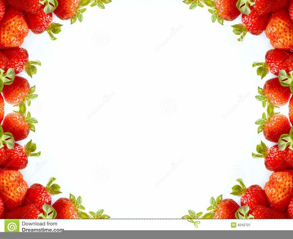 Strawberry Clipart Border.