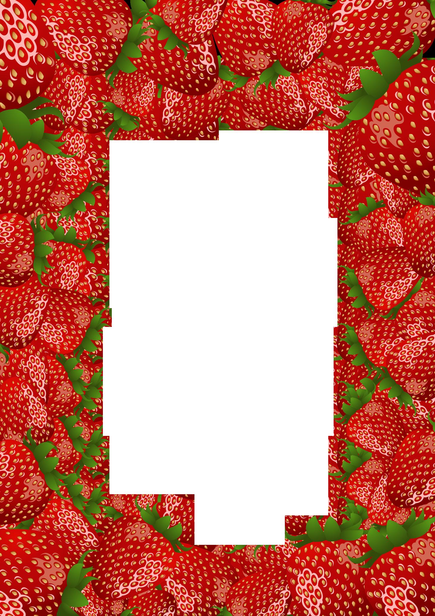 Strawberry border clipart 2.