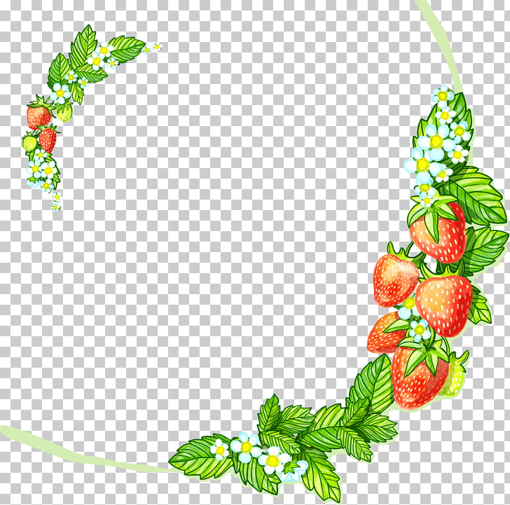 Strawberry Aedmaasikas Illustration, painted strawberry.